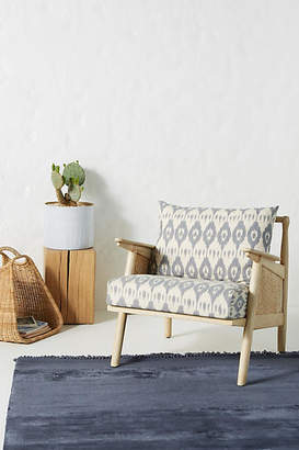 Anthropologie Washed Ikat Cane Chair