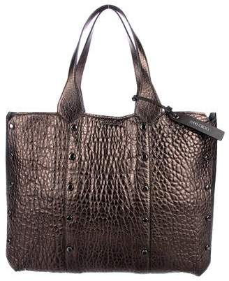 Jimmy Choo Lockett Metallic Leather Tote