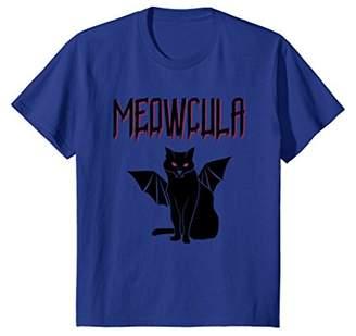 Meowcula Vampire Black Cat T-Shirt Halloween Tee Gift