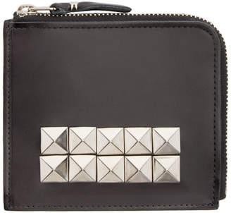 Comme des Garcons Wallets Black Leather Studded Wallet