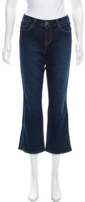 L'Agence Mid-Rise Straight Leg Jeans