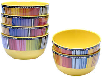 Certified International Serape Melamine Set of 6 Ice Cream Bowls