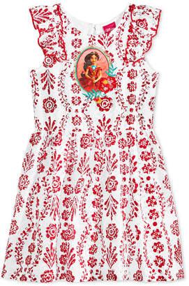 Disney Disney's Princess Elena of Avalor Floral-Print Lace Dress, Little Girls