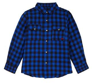 Buffalo David Bitton Mini Series Boys' Plaid Shirt, Little Kid - 100% Exclusive