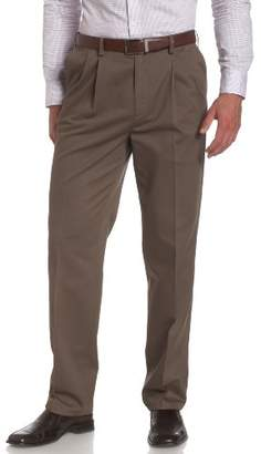 Savane Big and Tall Performance Chino Pleated Casual Pant -