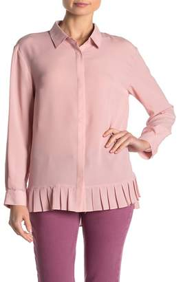 French Connection Collared Pleated Hem Blouse