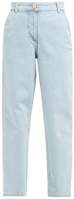 Versace High Rise Straight Leg Jeans - Womens - Denim