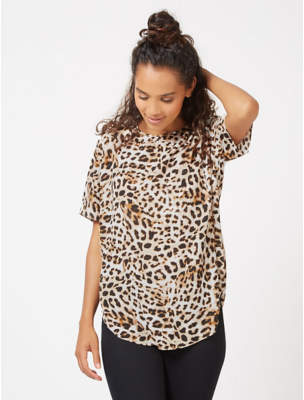 George Cream Leopard Print Top