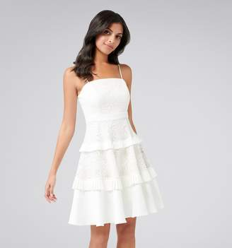 Forever New Angel Strappy Spliced Lace Dress