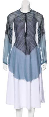 Raquel Allegra Long Sleeve Silk Tunic