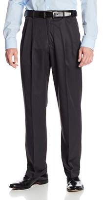 Geoffrey Beene Men's Mini Texture Dress Pant with Extender Waist