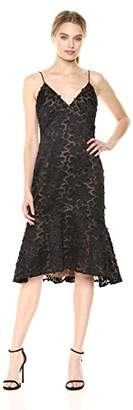 Vera Wang Women's Floral Applique Slip Dress
