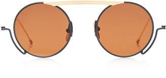 Thom Browne Metal Round Aviator Sunglasses