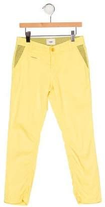 Fendi Boys' Zucchino-Accented Flat Front Pants