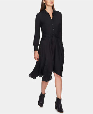 1 STATE 1.state Tie-Front High-Low Crisscross Hem Dress