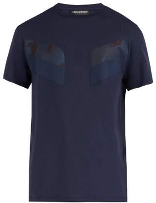 Neil Barrett Modernist Camouflage Cotton Blend Jersey T Shirt - Mens - Navy