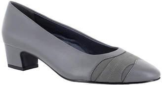 Easy Street Shoes Womens Babette Slip-on Round Toe Block Heel Pumps