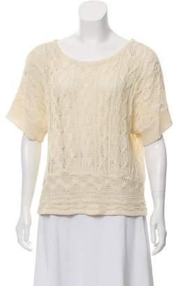 Rag & Bone Linen Short Sleeve Top
