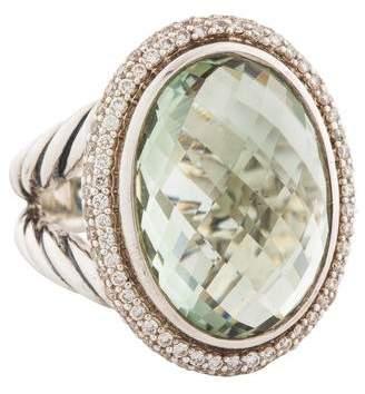 David Yurman Prasiolite & Diamond Signature Oval Ring