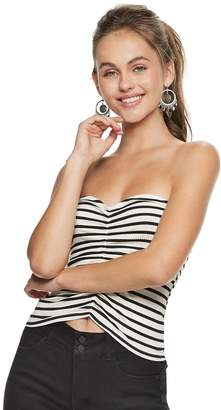 Candies Juniors' Candie's Striped Ruched Tube Top