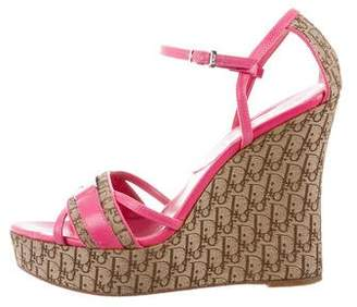 Christian Dior Diorissimo Wedge Sandals