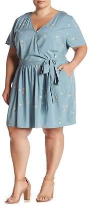 Susina Floral Tie Waist Dress (Plus Size)