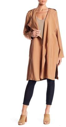 Elodie Drape Front Trench Coat