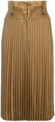 Muller of Yoshio Kubo Muller Of Yoshiokubo raffia corset pleated skirt