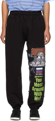 Vetements Black Russia Patchwork Lounge Pants