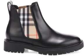 Burberry Vintage Check Leather Chelsea Boots