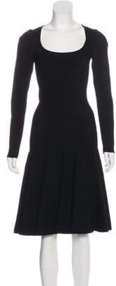 Alaia Midi Flared Dress