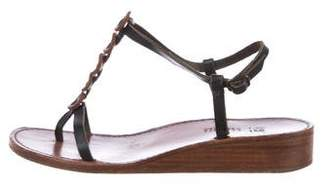 Henry Cuir Leather Ankle Strap Sandals