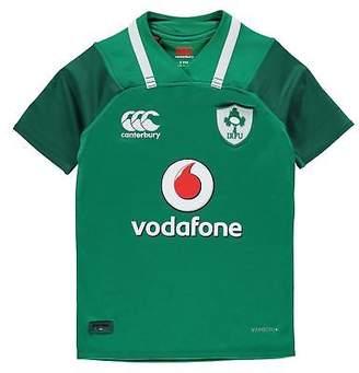 Canterbury of New Zealand Kids Ireland Rugby Home Pro Jersey 2017 2018 Junior Shirt Short