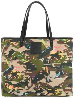 Roar camouflage print tote