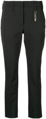 Versus safety pin detail trousers