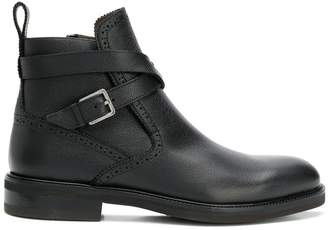 Salvatore Ferragamo buckle strap ankle boots
