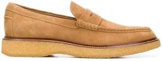 Tod's rubber sole penny loafers