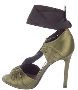 Tom Ford Satin Lace-Up Sandals