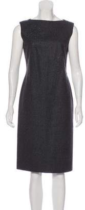 Alberta Ferretti Virgin Wool Knee-Length Dress