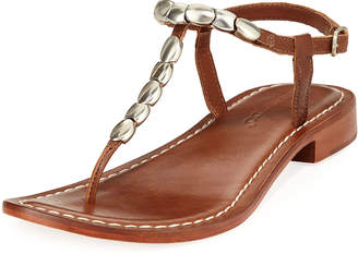Bernardo Tristan Studded Flat Sandals, Luggage