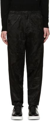 Alexander McQueen Black Camo Skull Lounge Pants $765 thestylecure.com