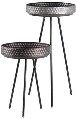 Urban Trends Collection: Metal Table Galvanized Finish Gray