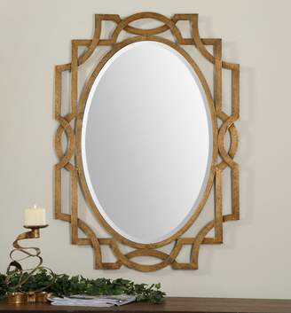Lulu & Georgia Lucie Gold Leaf Mirror