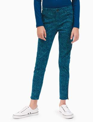Calvin Klein girls skinny spotted cat zip jeans