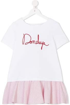 Dondup Kids logo embroidered dress