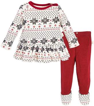 Burt's Bees Fair Isle Organic Baby Dress & Pant Set