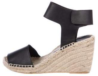 Vince Leather Wedge Sandals
