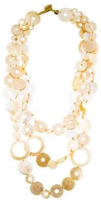 Viktoria Hayman Mother of Pearl Multistrand Necklace