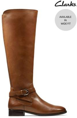 Clarks Womens Tan Netley Whirl Boots - Brown