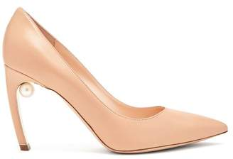 Nicholas Kirkwood Mira Pearl Heel Leather Pumps - Womens - Nude